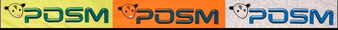 POSM Tshirts Colors and Logos