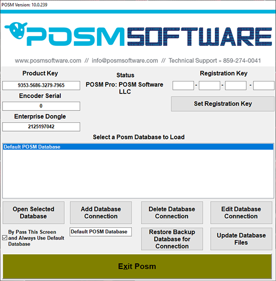 POSM Database Connection Manager
